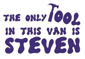 PERSONALISED  Tool Van Driver Rude Naughty Funny Vinyl Decal Sticker Bike Car